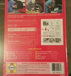 haynes service repair manual no 923 fiat uno 1983 to 1995 1 1 1 3 1 4 litre for sale online ebay [ 810 x 1440 Pixel ]