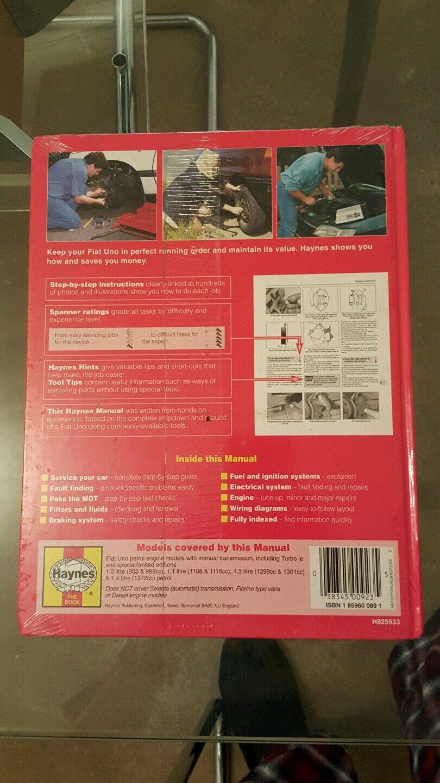 medium resolution of haynes service repair manual no 923 fiat uno 1983 to 1995 1 1 1 3 1 4 litre for sale online ebay