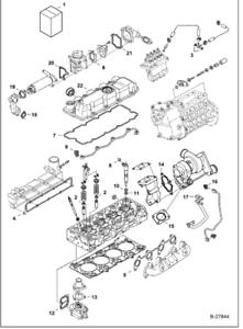 Kubota V3307 Engine Upper Gasket Set For M6040 M6060
