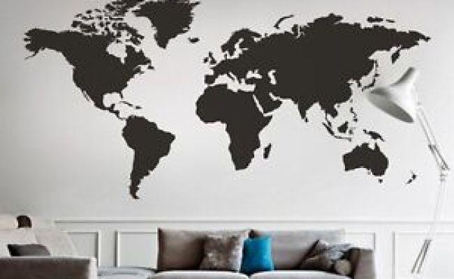 World Map Wall Decal Big Global Vinyl Office Inspiration