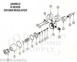 REPAIR KIT W/ DIAPHRAGM-UNIWELD RO ROB R SERIES OXYGEN