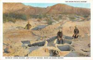 Las Vegas Nevada Lost City Adobe Houses Ruins Postcard ...