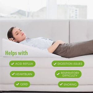 details about premium bed wedge acid reflux pillow support dr recommended for snoring gerd