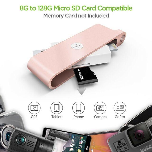 iPhone Lightning Memory Card Reader. Omars USB 3.1 Card Reader OTG microSD Rose   eBay