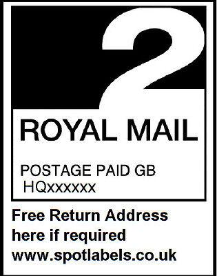 Royal Mail 2nd International PPI Labels & Return Address