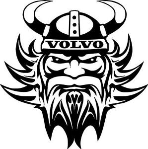 Volvo Viking vinyl decal sticker truck for walls glass
