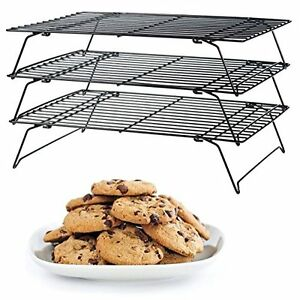 details about wilton excelle elite 3 tier cooling rack gourmet baking cookie cake display food