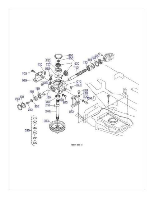 OEM Kubota Gearbox K5671-33100 Fits RC72-F30 for sale