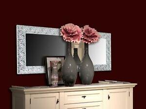 Cosa metto sopra al letto ? Specchio Moderno Da Parete Argento Camera Da Letto Bagno Soggiorno Ebay