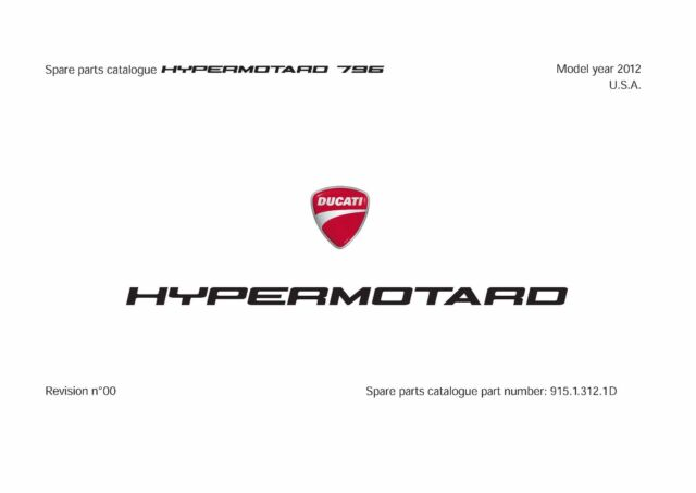 Ducati Parts Manual Book Chassis & Engine 2012 HYPERMOTARD