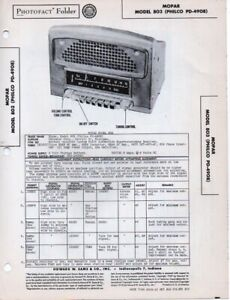 1949 MOPAR 803 RADIO SERVICE MANUAL PHOTOFACT SCHEMATIC