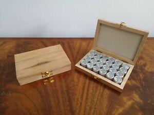 Wooden Craft Storage Box For Beads Trinkets Artist Painting Supplies Ebay