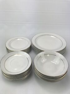 kitchen china dishes log home islands dinnerware set 24 piece plates bowls gibson image is loading