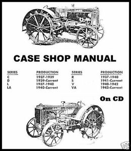 JI Case Tractors C D L LA R S V VA RC SC VC DC VAC Shop
