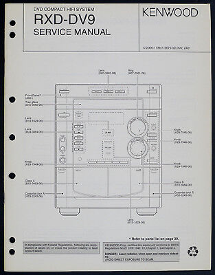 Kenwood RXD-DV9 Original DVD Compact Hifi System Service