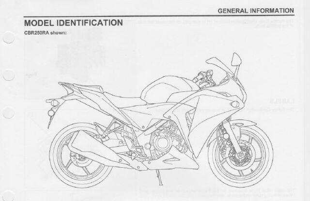 Honda CBR 250R Service Repair Maintenance Worshop Manual