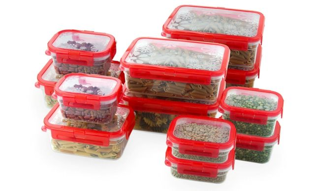 12 Pcs Plastic Food Storage Containers Set With Air Tight Locking Lids 2
