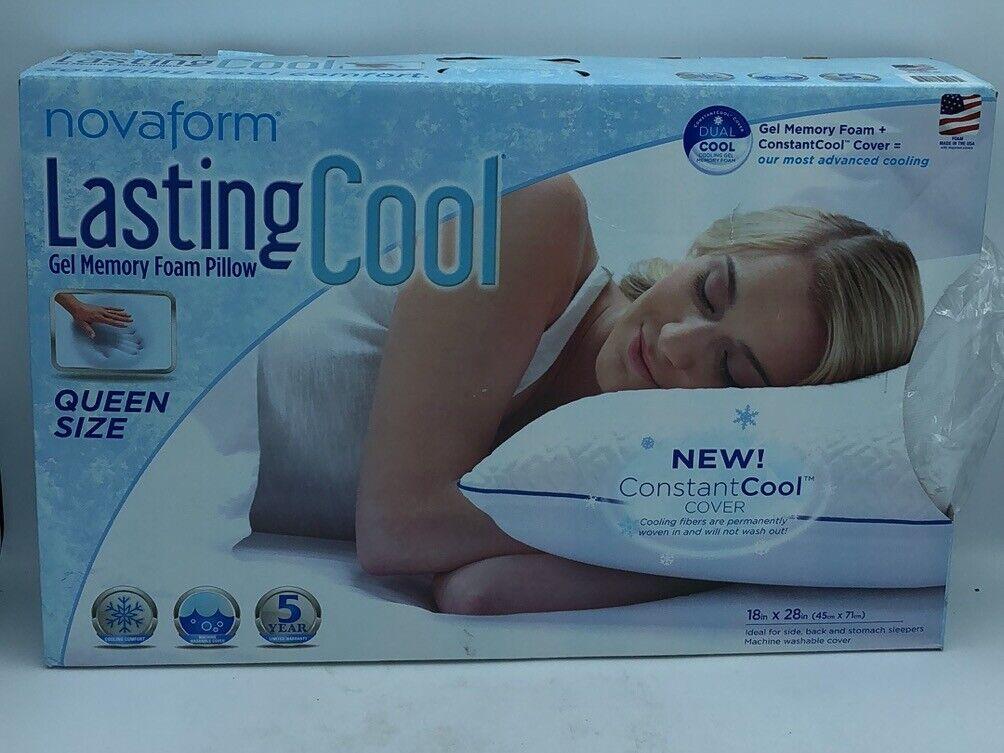 novaform lastingcool gel memory foam pillow