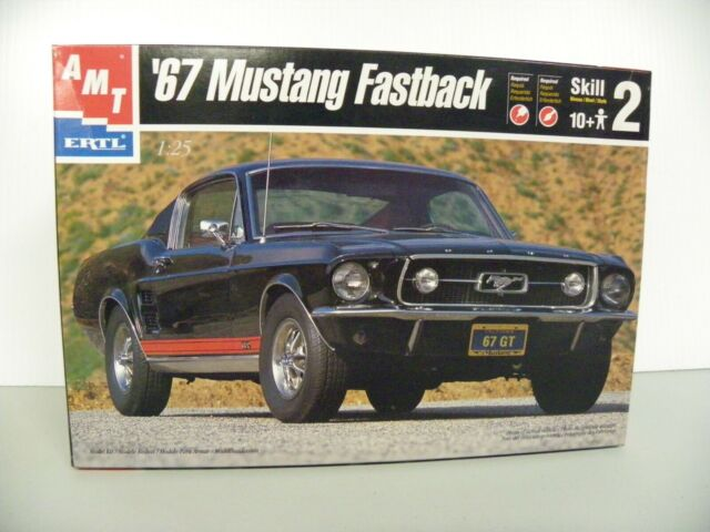 1968 ford mustang fastback conversion. Vintage Amt Ertl 1967 Ford Mustang Gt Fastback 1 25 Model Kit 6631 For Sale Online Ebay