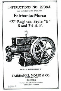 Fairbanks Morse Z B Engine Motor 5 & 7.5hp Book Manual Hit