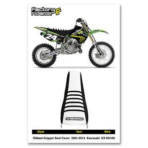 KAWASAKI KX 85 100 SEAT COVER 2001-2013 Black & White