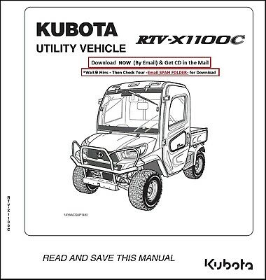 Kubota RTV 1100 RTV-X1100C Utility Vehicle with Cab