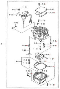 3R3871221M Nissan & Tohatsu Marine Carburetor Repair Kit