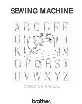 Brother PC-6500 Sewing Machine Owners Instruction Manual