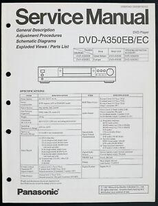Panasonic DVD-A350EB / Ec Original DVD Player Service