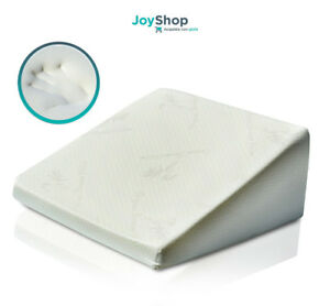 Cuscino cuneo memory foam per leggere o migliorare la circolazione delle gambe  eBay