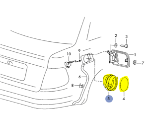 AUDI A4 (B5) SEAL FOR FUEL FILLER NECK TO BODY 8D0809933A