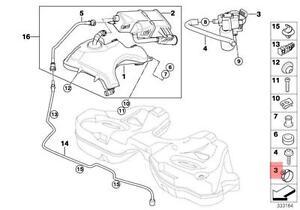 Genuine BMW E65 Fuel Vapor Detection Pump with Dust Filter