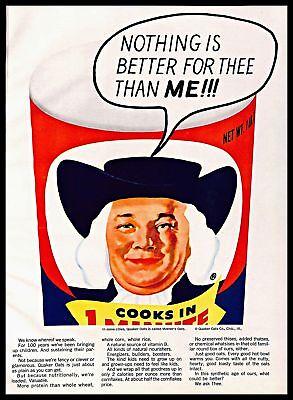 Quaker Logo : quaker, Quaker, Vintage, PRINT, Classic, Breakfast, Cereal, 1960s