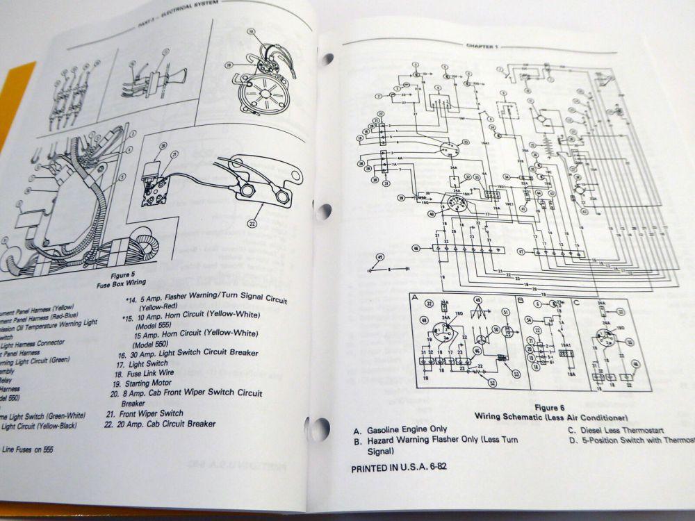 medium resolution of ford 550 555 tractor loader backhoe tlb factory service manual repair shop book ebay