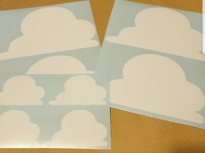 10 20 40 clouds toy story inspired themed bedroom wall vinyl stickers cloud ebay