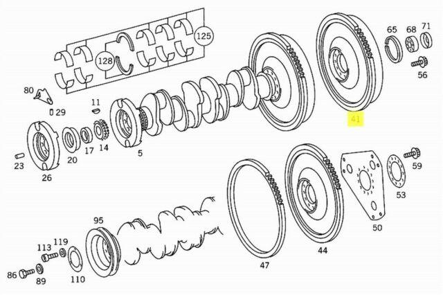 Mercedes Flywheel for Manual Transmission New OEM M115 Gas