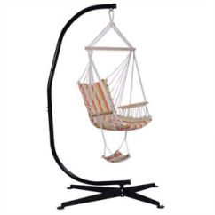 Swing Hammock Chair With Stand Behind The Show 2019 Steel C Frame Porch Free Standing Indoor Image Is Loading
