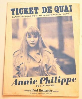 Annie Philippe Ticket De Quai : annie, philippe, ticket, Partition, Vintage, Sheet, Music, ANNIE, PHILIPPE, Ticket