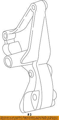 FORD OEM 99-03 F-350 Super Duty 7.3L-V8-Alternator Bracket