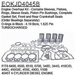 EOKJD4045B John Deere Parts Engine Overhaul Kit 6400, 6500