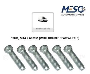 6 OF O.E. QUALITY REAR HUB STUD M14 60mm FORD TRANSIT MK6