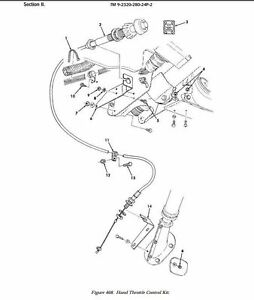 HMMWV HAND THROTTLE CONTROL 12469028 Button Lock Push Pull