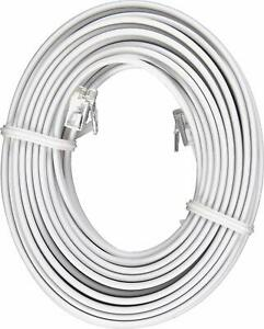 White 25' ft Telephone Modular Line Cord Phone Cable