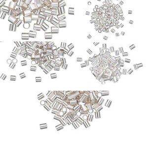 10 Sterling Silver Cut Crimp Tube Beads for Ending Beading