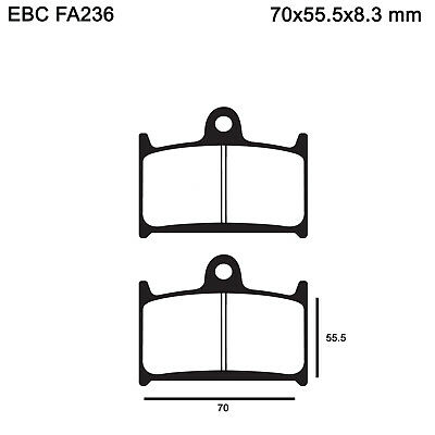 EBC FA236 Organic Replacement Brake Pads for Triumph