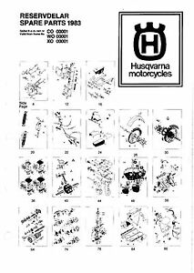 Husqvarna Parts Manual Book 1983 WR 125, XC 125, CR 125