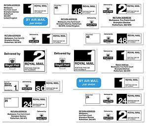 Royal Mail PPI Labels 1st/2nd Class 24/48 Hour Standard