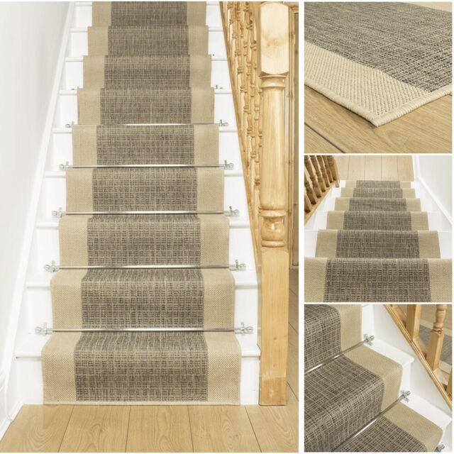 Extra Long Red Tweed Black Brown Stair Staircase Runner Carpet Mat   Tweed Carpet For Stairs   Adam   Modern   Mustard   Hard Wearing   Wool