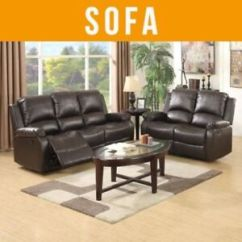Reclining Leather Living Room Furniture Sets Showpiece 3 2 Seaters Sofa Set Loveseat Chaise Couch Recliner Brown