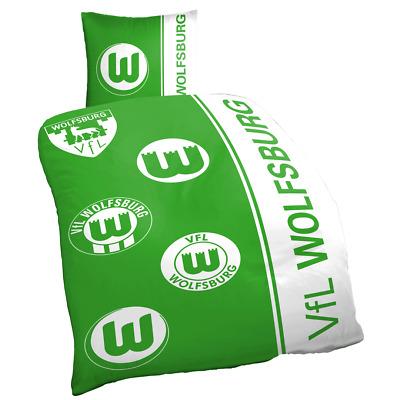 vfl wolfsburg bettwasche logohistorie masse 80 x 80cm 135 x 200 cm ebay